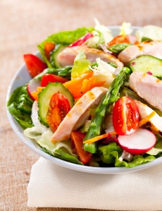 Asparagus and Pine Nut Chicken Salad