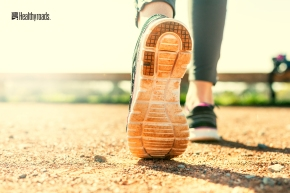 Sports Woman's legs in running movement