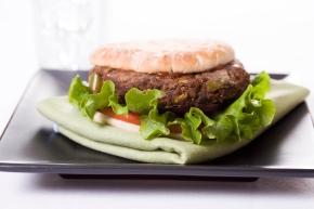 Black Bean Veggie Burger on a Multi-grain Bun